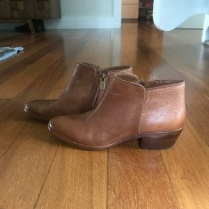 Sam Edelman Petty Ankle Booties Cognac 7